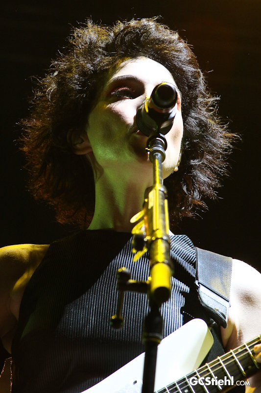 St. Vincent performs on stage.