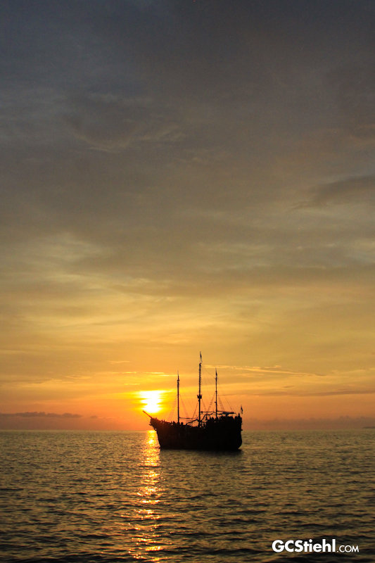 Sunset Pirate Ship